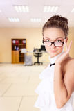 Secretary in glasses Stock Image