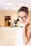 Secretary in glasses Stock Image