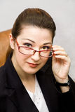 The Secretary with glasses Royalty Free Stock Photo