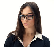 Secretary with glasses Stock Photography