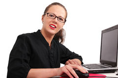 Secretary in glasses in office Stock Photography