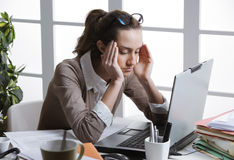 Secretary is having a bad day Stock Image