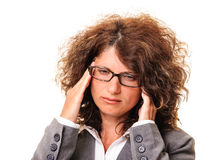 Secretary headache Stock Photo