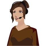 Secretary. Image of a secretary while calling on a headset Stock Photos