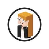 Secretary isometric avatar Stock Image