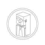 Secretary isometric avatar Royalty Free Stock Images