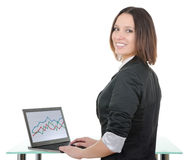 Secretary with a laptop Royalty Free Stock Images