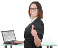 Secretary with a laptop Royalty Free Stock Photos