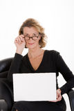 Secretary with laptop Royalty Free Stock Photo