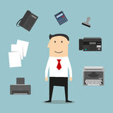 Secretary or manager profession icons Royalty Free Stock Photography
