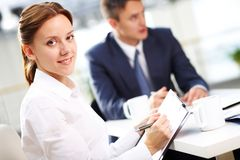 Secretary with notes Stock Images