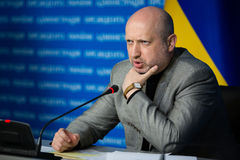 Secretary of the NSDC of Ukraine Oleksandr Turchynov Stock Photos