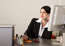 Secretary in a office Stock Photo