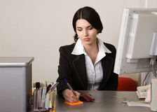 Secretary in a office Royalty Free Stock Photography