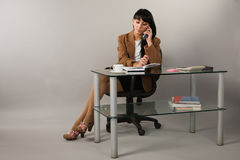 Secretary in a office Stock Photo