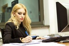 Secretary in the office Stock Photo