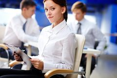 Secretary in office Stock Photography