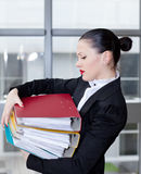 Secretary  in the office Stock Photos