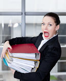 Secretary  in the office Royalty Free Stock Image