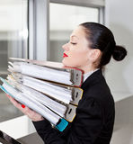 Secretary  in the office Stock Photography
