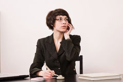 Secretary in a office Royalty Free Stock Image
