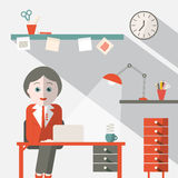 Secretary in Office Royalty Free Stock Photography