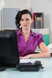 Secretary in office Royalty Free Stock Images