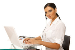 Secretary online Stock Photography