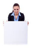 Secretary over white board Stock Images