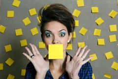 Secretary overwhelmed Stock Photo
