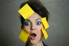 Secretary overwhelmed Stock Images