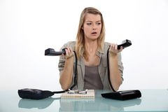 Secretary overwhelmed Stock Photography