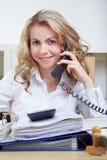 Secretary on the phone Stock Photos