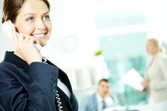 Secretary on the phone Royalty Free Stock Photography