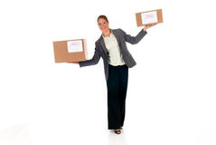 Secretary Postal  Package Royalty Free Stock Images