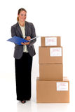 Secretary Postal  Package Stock Photos