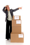 Secretary Postal  Package Royalty Free Stock Image