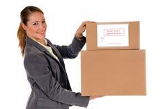 Secretary Postal  Package Stock Photo