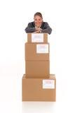 Secretary Postal  Package Stock Photos
