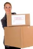 Secretary Postal  Package Royalty Free Stock Photography