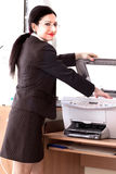 Secretary Printing Documents Stock Image