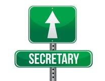 Secretary road sign illustration design Stock Photography