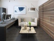 Secretary room avant garde style. 3d render Stock Images
