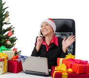 Secretary of Santa Claus Royalty Free Stock Image