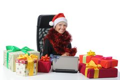 Secretary of Santa Claus Stock Photo