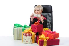 Secretary of Santa Claus Stock Images
