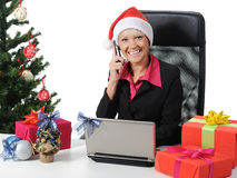 Secretary of Santa Claus Royalty Free Stock Images