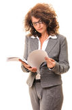 Secretary searching sheets Royalty Free Stock Photo