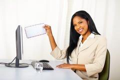 Secretary sending a e-mail Stock Photos