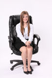 Secretary Sitting In Swivel Chair Stock Image